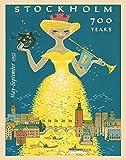 Stockholm Reise-Poster skandinavische Kunst skandinavisches