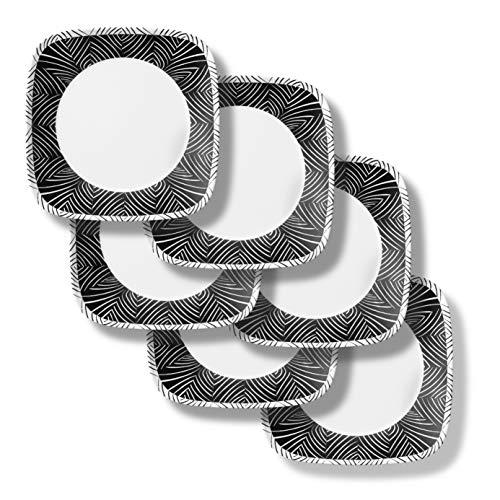Corelle Chip Resistant Dinner Plates, 6-Piece, Imani