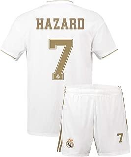 Youth Hazard Jersey Real Madrid 7 Home 2019-2020 Kids Soccer Eden
