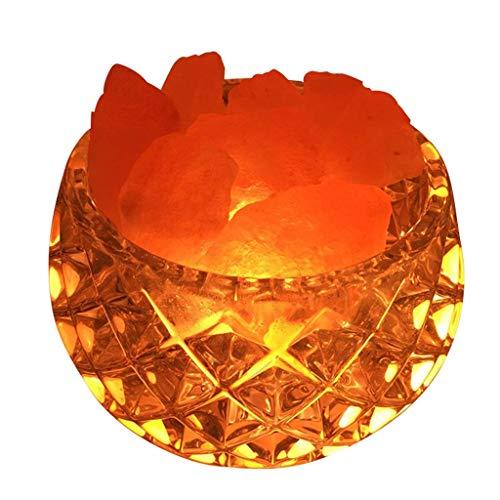 HTL Kristallsalzlampe Rose Salz Kleine Tischlampe Schlafzimmer Nachttisch Nachtlicht Für Büromöbel Beleuchtung Yoga Geschenk Schreibtischlampen Für Schlafzimmer