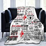 greys anatomy blanket greys anatomy season 17 Soft Micro Fleece Children Blanket Sheet for Crib Adults Kids Bed Bedding Couch Chair Collage Dorm Living Room Home Decor 50'X40'