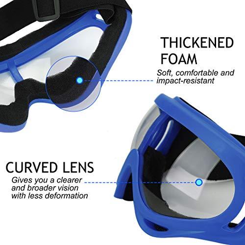 B bangcool 2 Pairs Cycling Goggles Creative Dustproof Windproof Skiing Goggles Protective Cycling Goggles Motorcycle Goggles
