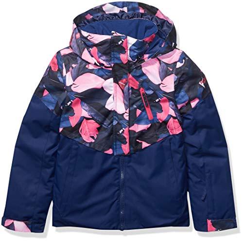 Roxy Snow Big Frozen Flow Girl Jacket, Medieval Blue Plumes, 10/M
