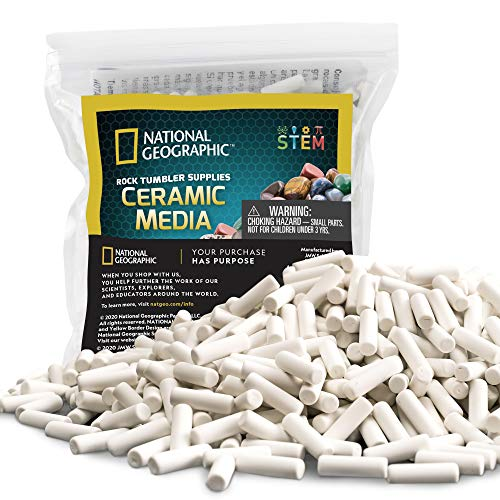 Tonmp 2 Pound Rock Tumbling Ceramic Filler Media 2 LB 3//16 X 3//8 inch Small Cylinder Ceramic Pellets for All Type Tumblers