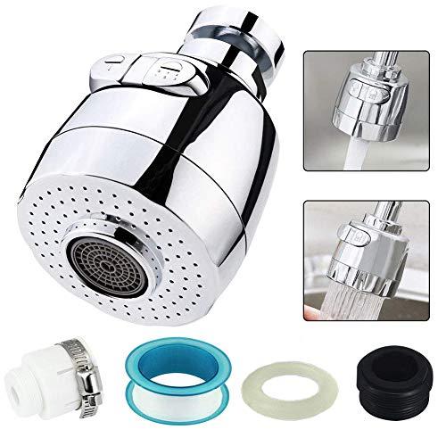 360 ° Giratorio Agua Ahorro Grifo, BETOY Grifo Pulverizador de Tres Engranajes Ajustable Filtro Agua Ahorro Grifo Difusor Accesorios de Cocina Baño, Adecuado para 18-22 mm