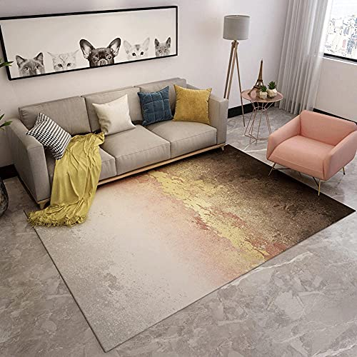 Rugs accessories for living room Brown pink yellow gradient ink style living room decoration carpet childrens bedroom furniture bedroom accessories for women 200*350cm