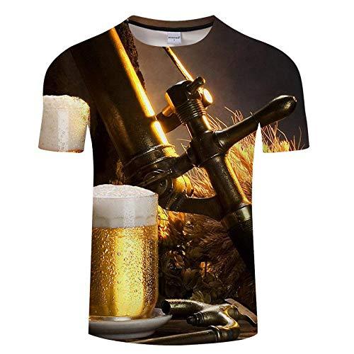 T-Shirt Hommes T-Shirt Impression 3D Chemise Décontractée Manches Courtes Style De Mode Tops Chemises Respirantes Asianl Txkh3081