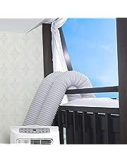 Wovatech Universele raamafdichting voor draagbare airconditioner - Air Exchange Guards met ritssluiting en haakband - Werkt met elke mobiele airconditioner 300 / 400cm