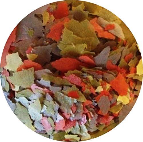 Flockenfutter Hauptflocken Flocken 4 farbig Fischfutter Aquarium Zierfischflocke (1 l)