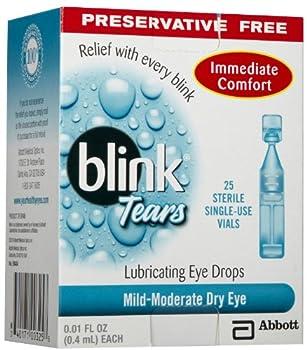 Blink Tears Sterile Single Use Vials 25 Count 0.01 Fluid Ounce Each