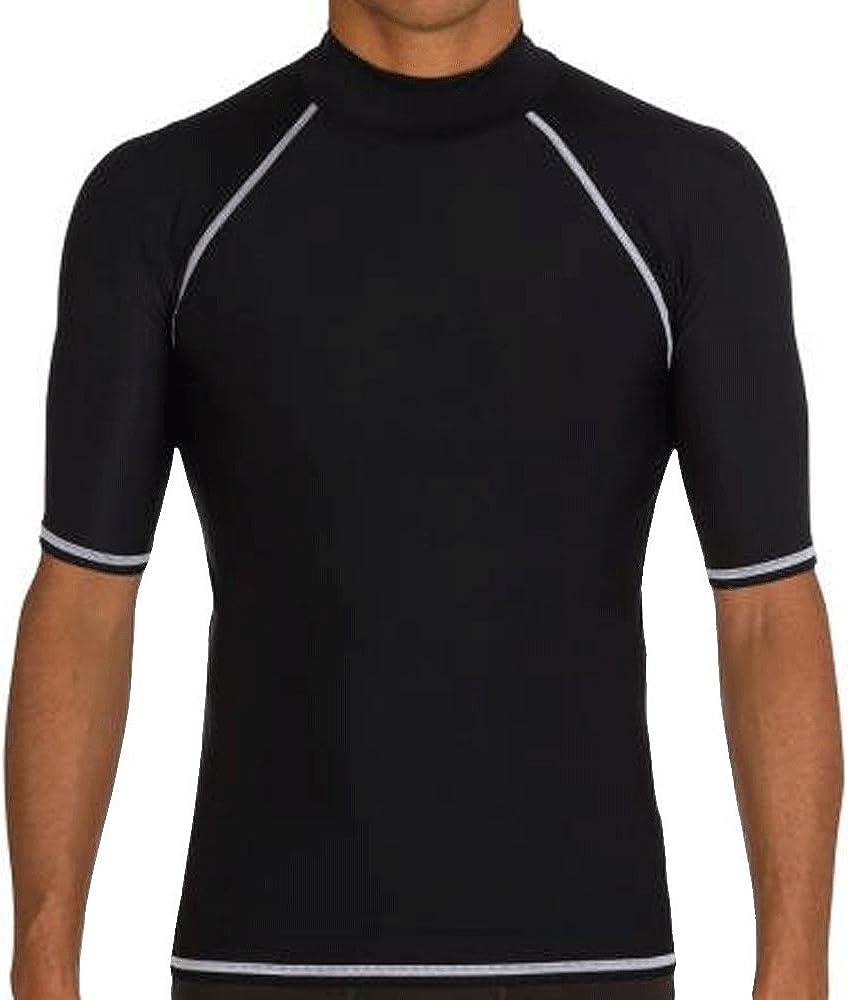 Men's Short Sleeve Surf Rash Guard - UV Protection Compression Shirt Swim Beach Top Base Layer Swimwear