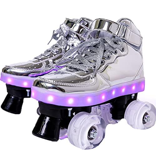 Rollschuhe Doppelreihe LED-Flash...