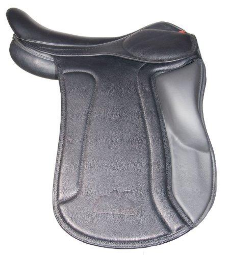 Karlslund Saddle Kneolls, K112kk zadel met korte broek, zwart/grijs, 17 inch, zwart