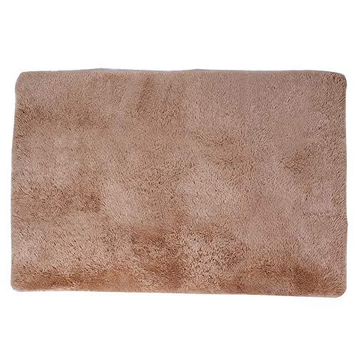 Tapete de piso, tapete macio de forma retangular Tapete de piso inferior antiderrapante, para(Camel, 140*200cm)