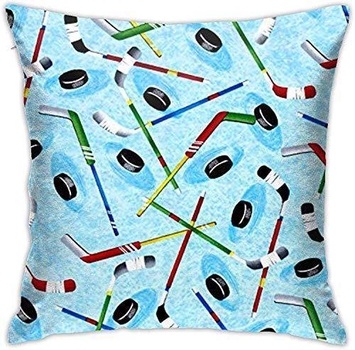 BONRI Hockey sobre Hielo Throw Pillow Cover Funda de Almohada Decorativa Decoración para el hogar Cuadrado , (18'x18 / 45x45cm