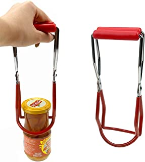 MeButiko Canning Jar Lifter Tongs Stainless Steel Jar Lifter with Grip Handle,Practical Household Items, Portable Products