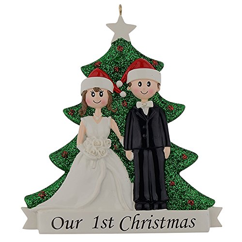 Our 1st Christmas Wedding Couple Personalized Ornament Valentines Days Gifts