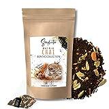 SIMPLICITHÉ Masala Chai Tee im Pyramidenbeutel, ganze Schwarztee Blätter in biologisch abbaubaren...
