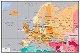 Mapa de color de Europa - Niños Adultos Puzzle 500 Piezas Madera Toys Diy Juego Puzzle
