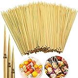 INTVN Pinchos de Bambú Naturales, 250 Pcs Madera Brochetas