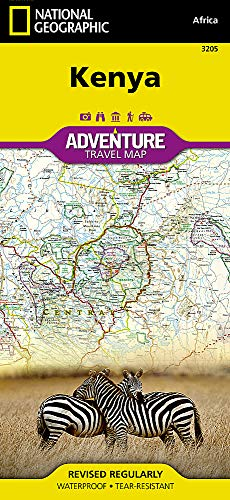 Kenya: Travel Maps International Adventure Map (National Geographic Adventure Map, Band 3205)
