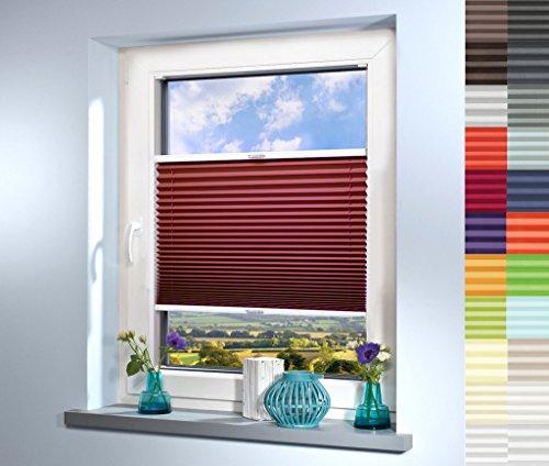 Sun World Plissee nach Maß, deutsche Wertarbeit, hochqualitative Wertarbeit, für Fenster und Türen, alle Größen, Maßanfertigung, Jalousie, Faltrollo (Farbe: Lila, Höhe: 191-200cm, Breite: 71-80cm)