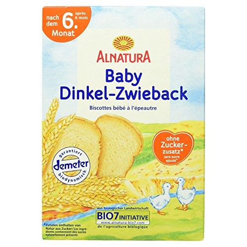 Alnatura Bio Dinkelzwieback, 6er Pack (6 x 200 g)