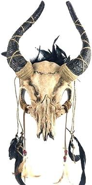 KB Ram Skull Masquerade Mask in Natural Tones M39565 Head Band Mask
