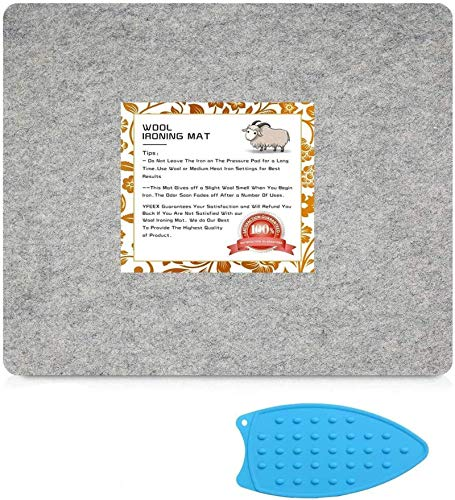 13.5' X 17'-Wool Pressing Mat for Quilting-New Zealand Wool Ironing Mat-Portable for Quilting,Sewing,Pressing Seams,Embroidery Crafts Perfect