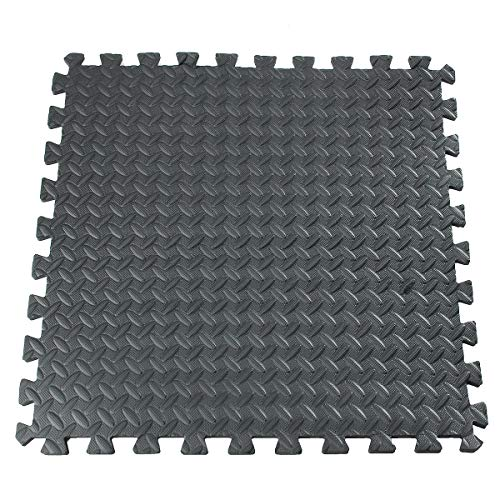 Terrarum 61X61Cm Eva Foam Vloer Interlocking Tegel Mat Show Vloer Gym Oefening Speelkamer Yoga Mat Zwart