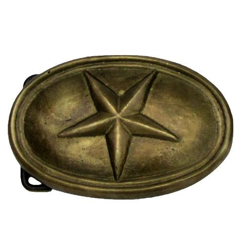 Treasure Gurus Civil War Belt Buckle Texas Star Brass