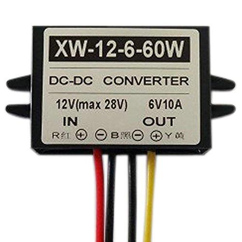 Blackr 12V zu 6V DC Stromwandler, 10A 60W DC Netzteil, Spannungsabsenker, Adapter / Regler