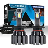 NOVSIGHT LED Headlight Bulbs- H7 Headlights All-in-One Conversion Kit 80W 15000LM 6000K Cool White Hi/Lo Beam...