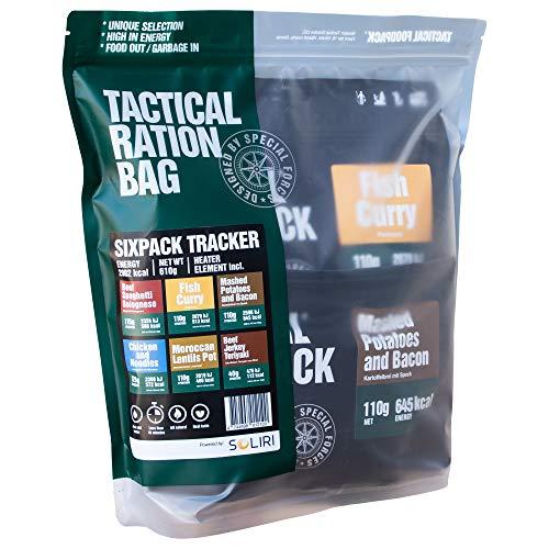 Tactical Foodpack - Tracker | gefriergetrocknete Premium Mahlzeiten - Instant Outdoor Nahrung für Camping, Trekking, Expedition und Büro | Natürliche Zutaten, schnelle Zubereitung, Lange Haltbarkeit