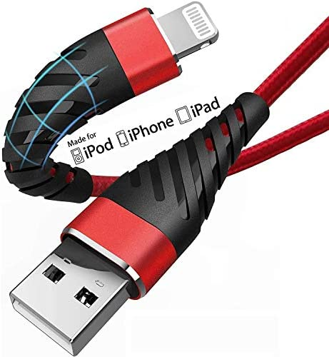 Long iPhone Charger Cable 10ft for MFi Certified 2 Pack CyvenSmart 10 Foot Lightning Cable Fast product image