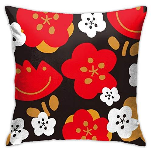 Funda de almohada N/A para decoración de interiores, diseño vintage estampado floral blanco