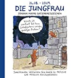 Die Jungfrau: Witziges Cartoon Sternzeichen-Geschenkbuch im Format 11,5 x 11,5 cm - Korsch Verlag