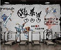 Afashiony写真の壁紙リビングルーム壁壁画不織布プレミアム壁紙Hdプリントポスター壁アート画像現代の壁の装飾ジムレトロ背景-200Cmx140Cm