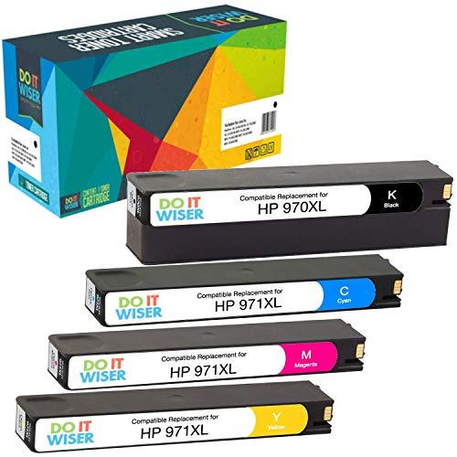 Do it wiser kompatible Tintenpatrone als Ersatz für HP 970XL 971XL HP OfficeJet Pro X476dw MFP X576dw MFP X476dn MFP X551dw X451dw X451dn (4er-Pack)