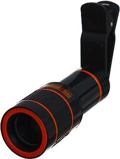 عدسة تليسكوب للهواتف المحمولة ، تقريب 12x للكاميرا والهاتف المحمول - اسود