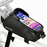 """NDakter Bike Phone Front Frame Bag, Waterproof Bicycle Top Tube Pouch Phone Mount Pack Phone Case Holder Bike Accessories Cycling Pouch Compatible with iPhone 12 Pro Max Fit 6.5"""""""