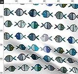 grün, blau, türkis, Fisch, verspielt, Inneneinrichtung,