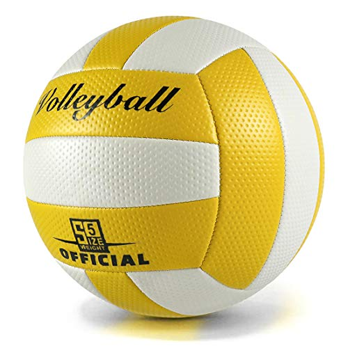 Wisdom Wolf Pallone Volley Soft Touch Pallavolo Indoor Outdoor Beach Gym per Bambini/Adulti,Taglia Ufficiale 5
