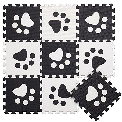MUSOLEI Puzzle Schaumstoffmatte Spielmatte Ineinandergreifender Schaum Baby Footprint Fliesen Spielmatten 10 Stück / Beutel Jedes Stück = 12
