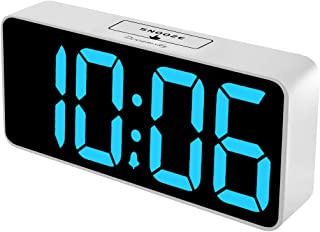 DreamSky 8.9 Inches Large Digital Alarm Clock with USB Charging Port, Fully Adjustable..