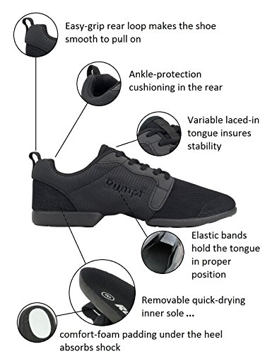 RUMPF Mojo Sneaker Tanzschuhe Tanzsneaker Trainingstanzschuhe schwarz - 6