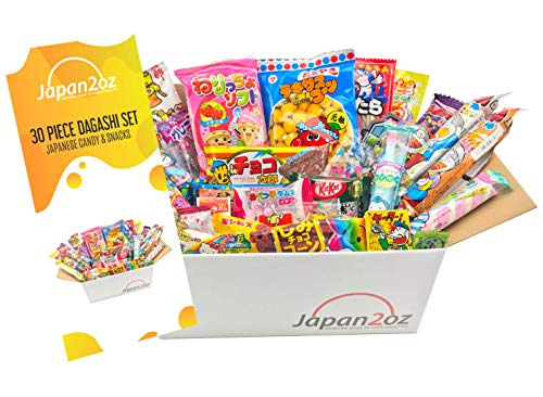 Japanese Snacks & Candy Box with English Pamphlet 30 pieces Food Dagashi Ramune