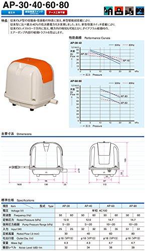 安永エアポンプ『電磁式エアーポンプ吐出専用(AP-40P)』