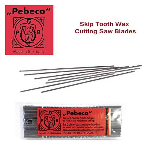 Pebeco Skip Tooth Wax Cutting Saw Blades - 12 Blades - Size #1a