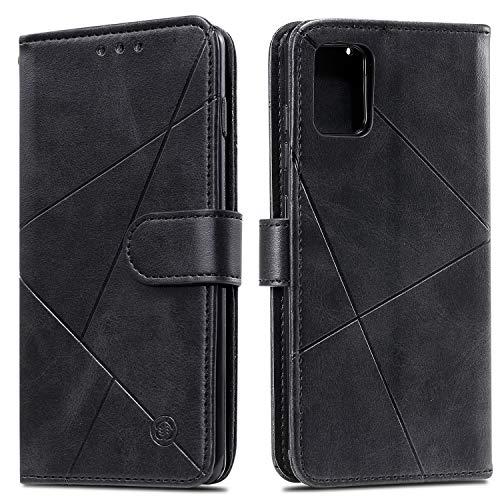 Snow Color Galaxy A51 Hülle, Premium Leder Tasche Flip Wallet Case [Standfunktion] [Kartenfächern] PU-Leder Schutzhülle Brieftasche Handyhülle für Samsung Galaxy A51 - COHH060171 Schwarz